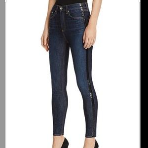 Rag & Bone Side Stripe High Rise Skinny Jeans
